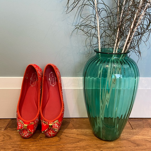 Ted Baker London Immep Ballet Flats in Red Kyoto